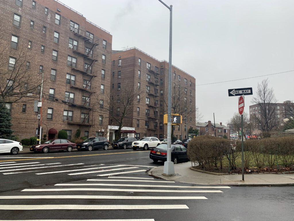 světelný přechod pro chodce New York
